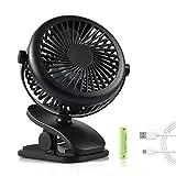 Ventilatore a Batteria, Backture Mini Ventilatore Usb, ventilatore da tavolo a 3 velocità, potente e silenzioso, adatto per passeggino, auto, campeggio, ecc.