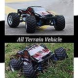 Dilwe 2,4 GHz 1/18 RC Rennwagen, Fernbedienung Allradantrieb Off-Road Car RC Auto Modell Fahrzeug Spielzeug(Rot)