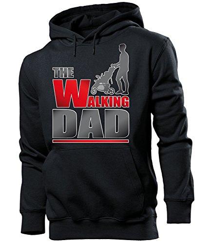 Daddy Hoodie (Golebros The Walking Dad Männer Papa Vater Geburtstags Ideen Hoodie Herren Kapuzen Pullover Sweatshirt Pulli Papi Vati Daddy Eltern)