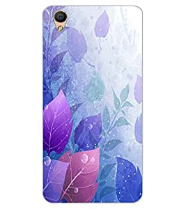 ColourCraft Beautiful Leafs Design Back Case Cover for OPPO R9