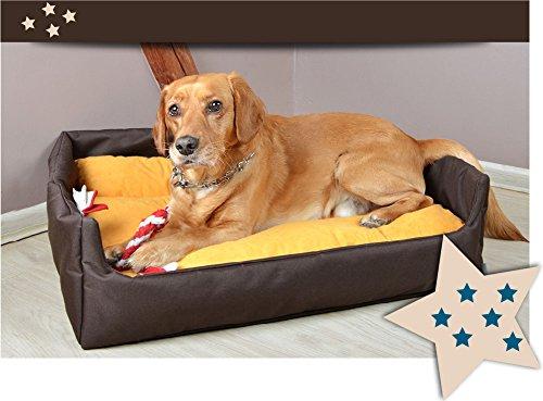 "Hundebett Hundekorb ""Aruba"" 100% Polyester Braun II M – 70cmx60 cm W204 10 - 6"