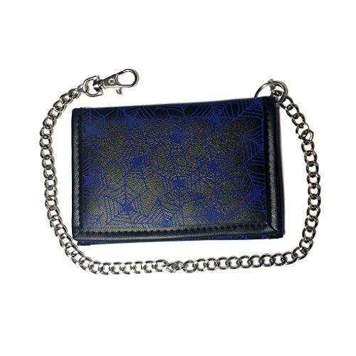 Portafoglio con catena in caso di colori e motivi, 141 (Nero) - 22410 688
