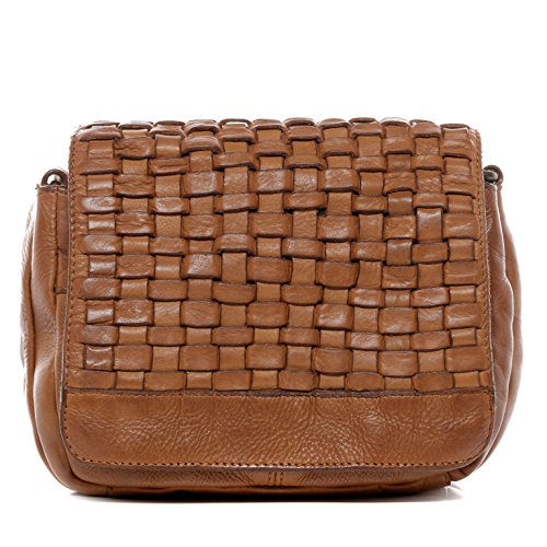 BACCINI® Schultertasche ROSA Damen Umhängetasche groß Ledertasche Handtasche Vintage-Look Damentasche echt Leder Vintage hellbraun (Leder-camel Hobo)