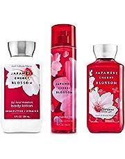 Bath & Body Works Japanese Cherry Blossom Set - Shower Gel 10 oz, Fragrance Mist 8 oz, Body Lotion 8 oz