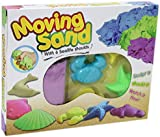 Moving Sand Sculpture Kit with 6 Sea life Creatures Moulds Kids Children Fun Game