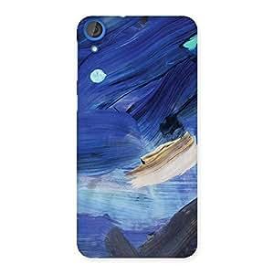 Premium Blue Paint Work Print Back Case Cover for HTC Desire 820s