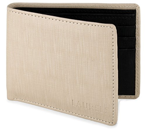 Laurels Men's Wallet Beige-CLA-12