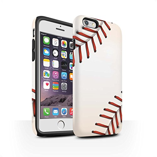 STUFF4 Matte Harten Stoßfest Hülle / Case für Apple iPhone 6 / Baseball Muster / Sport Bälle/Ball Kollektion Baseball