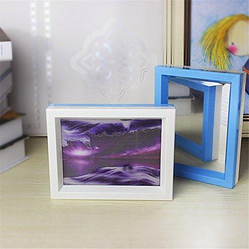 Deerbird® Zwei Farben bewegende Sand-Kunst-Anstrich-psychedelisches sternenklares Muster-fließendes Sand-Bild 3D-Effekt-dynamisches Hourglass begleitende spiegel