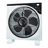 AirArtDeco Ventilatore Box   Griglia oscillante  12 Pollici   3 Velocità  Funzione timer   Potente, Silenzioso   Ideale per casa o ufficio   Grigio/Bianco ...