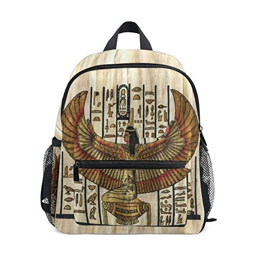 QMIN Kinder Rucksack antike Religion ägyptische Pergament, kleine Kleinkind Vorschul-Schultertasche Reise Elementar-Kindergarten Schultaschen für Mädchen Jungen Kinder