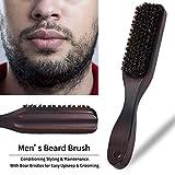 Rameng Brosse à Barbe en Bois à Cheveux Pour Hommes Beard Brush Naturel Brosse en...