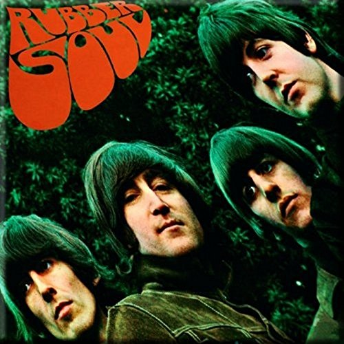 The Beatles Rubber Soul Nue Official 76mm x 76mm Kühlschrankmagnet