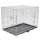 vidaXL Metall Hundekäfig Drahtkäfig Hunde Transportbox Transportkäfig faltbar XL