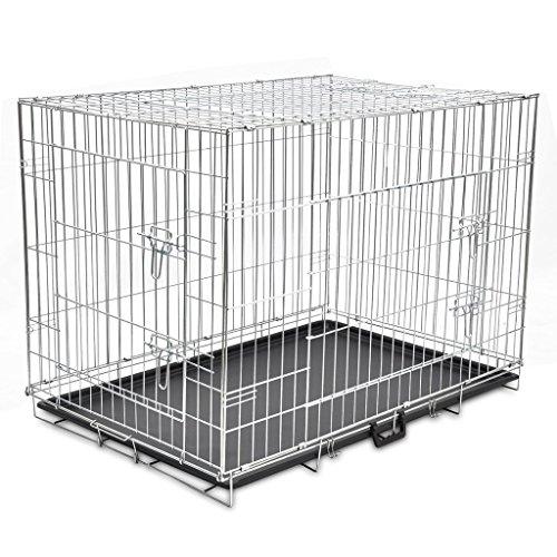 vidaXL Metall Hundekäfig Drahtkäfig Hundebox Transportbox Transportkäfig faltbar XL