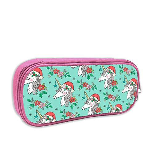 astuccio per bambini portatutto,Unicorno di Natale su menta verde_4413, rosa