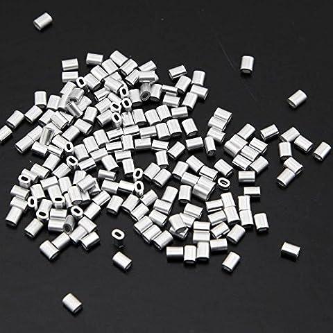 Yasorn 200-M1 paquete oval de aluminio mangas Pinzas cuerda de alambre Clip 1mm