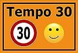 Melis Folienwerkstatt Schild - Tempo 30-60x40cm | Bohrlöcher | 3mm Aluverbund - S00040-043-E - 20 Varianten