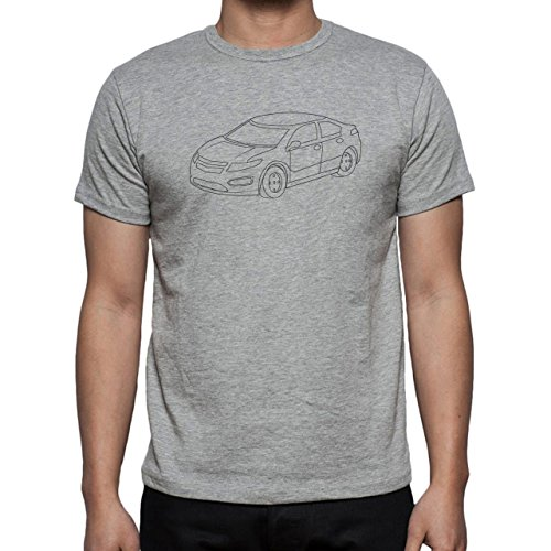 Car Vehicle Four Wheels Auto Chevrolet White Herren T-Shirt Grau