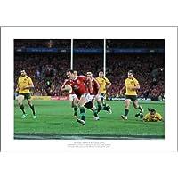 Framed British /& Irish Lions Face the Haka Rugby Photo Memorabilia