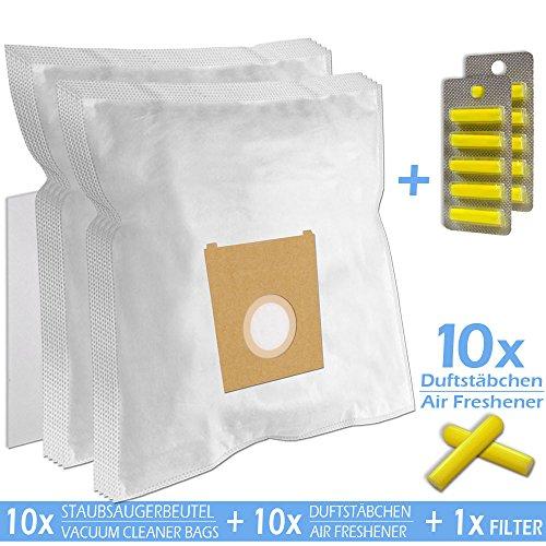 SPARSET - 10 Duftstäbchen + 10 Staubsaugerbeutel geeignet für SIEMENS VS 04 G 2200 Rapid