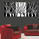 HANHAIBO Handgemalte Abstrakte Acrylbilder Stellt Handgefertigte Weiß Schwarz Baum Öl Malerei Home Decor Wall Art 3 Panel Bilder