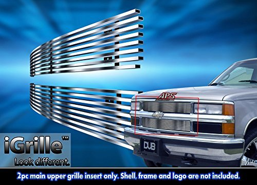 Fits 1994-1999 Chevy C/K Pickup/Suburban/Tahoe Stainless Steel Billet Grille Grill #C65706C by APS