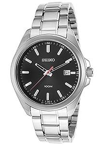 Seiko SUR061P1 - Reloj de cuarzo para hombre, correa de acero inoxidable color metalizado de Seiko