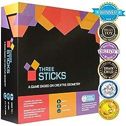 Kitki THREE STICKS Juego De Mesa Para Niños Juguete Educativo De Matemáticas (Versión En Inglés).