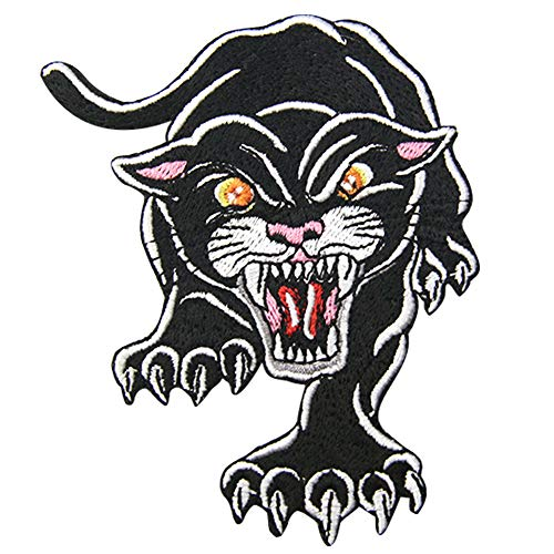 ZEGIN The Roaring Animal Patch Ricamato Applique Toppa termoadesiva Carnivorous Panther