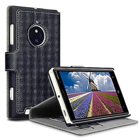 Terrapin Crosshatch Étui Housse en Cuir Ultra-mince Avec La Fonction Stand pour Nokia Lumia 830 Coque -