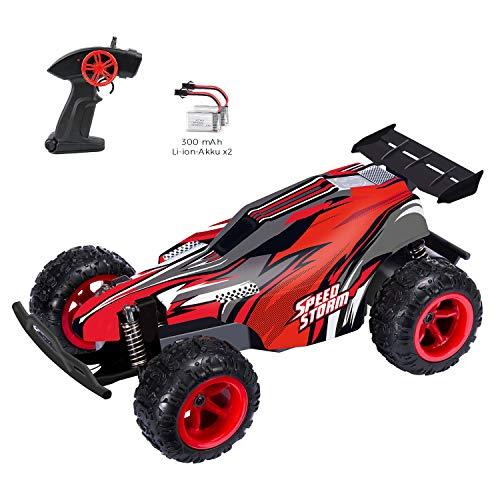 FTF Ferngesteuertes Auto 1/22 Maßstab RC Racing Car Rennauto, 2,4GHz 2WD Antrieb mit bis zu 20+KM/H auch Indoor Outdoor Spiele Gelände Kinder Spielzeug (Rot)