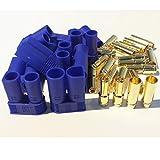 MR-Onlinehandel ® 5 Paar (10 Stück) EC5 kompatible Goldkontakt Hochstrom Gold Stecker + Buchse