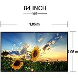 EUG 16: 9Widescreen pantalla de proyección portátil pantalla para proyector para cine en casa/oficina/al aire libre Protector de plegable