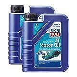 2x LIQUI MOLY 25021 Marine VollSynthetisch 2T Motoröl 1L