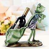NYDZ Artesanías de Resina Ornamentos del Estante del Vino, Creativa Verde Rana Escultura Obra de Arte Decoración Sala de Estar Inicio Vino Gabinete Decoración Regalo
