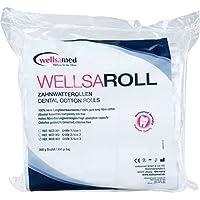 Preisvergleich für wellsamed wellsaroll Zahnwatterollen Größe 3 (~ 12 mm), 300g Dental Watterollen, Verbandwatte aus 100% Baumwolle...