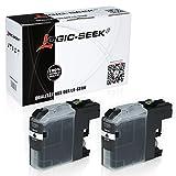 2 Tintenpatronen für Brother LC-221 für DCP-J562DW, MFC-J480DW, MFC-J680, MFC-J880, MFC-J1100 Series - LC221BK - Schwarz je 3ml