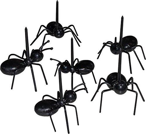 3D Plastik Ameisen-Picks, Picknick-Neuheit, Cocktail-Sticks, Spieße (Packung mit 12 Stück)