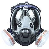 Vollmaske Atemschutzmaske mit Filtern ähnlich für 6800 Masken organische Dämpfe N95 Level Silikon Atemschutzmaske für Malerei, Chemikalien, Pestizide