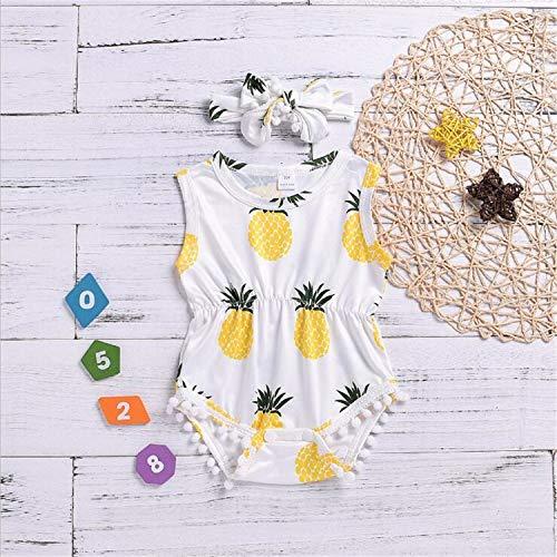 n Kleidung Siamois Sommer Neudruck Ananas Rundhalsausschnitt ohne Ärmel Weste aus Pelz Klettern Kostüm Schal, 70 cm ()