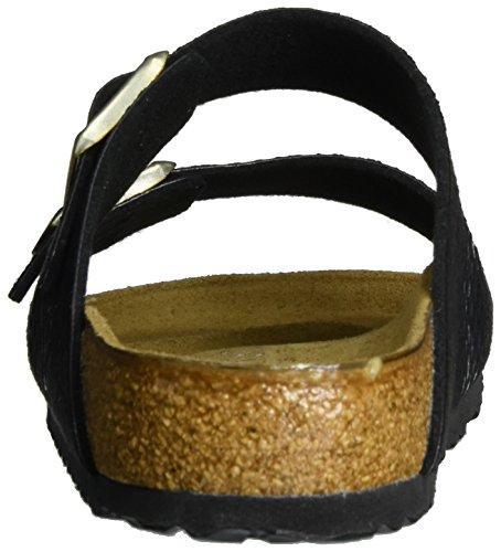Birkenstock Damen Arizona Birko-Flor Pantoletten Schwarz (Shiny Snake Black)