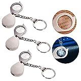 Docooler Loupe de poche pliante 10X lentille 20mm loupe portable pour bijoux bijoux