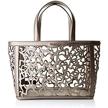 Tous 895900039, Bolso totes para Mujer, Marrón (Claro Metalizado) 15x25x32 cm (