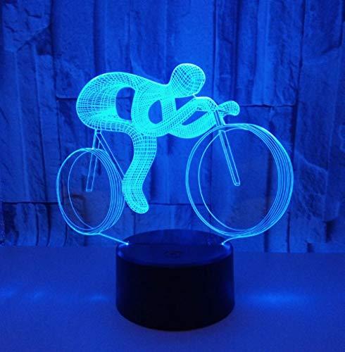 ZJFHL Ride Bike 3D Nachtlicht LED 7 Farbwechsel Visuelle Tabelle Für Kinder Geschenk Spielzeug