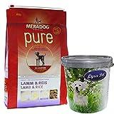 Mera Dog 12,5 kg Lamm & Reis Hundefutter für ausgewachsene Hunde + Futtertonne