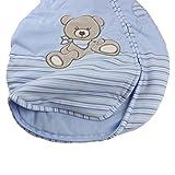 Jacky Jungen Baby Ganzjahres Schlafsack Langarm, 100% Baumwolle, Hellblau/Ringelstreifen, Gr. 62/68, 350013 - 5