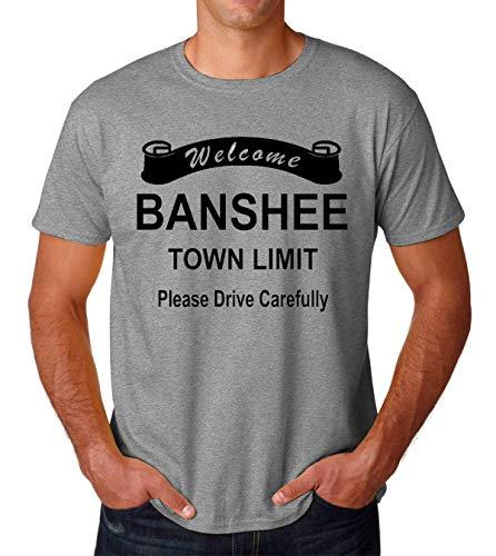 Welcome Banshee Town Limit Please Drive Carefully Men's T-Shirt Herren Medium -