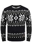 !Solid Norwig Herren Weihnachtspullover Norweger-Pullover Winter Strickpullover Grobstrick Pullover mit Rundhalsausschnitt, G