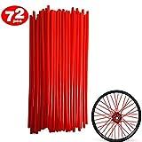 DIXIUZA 72Pcs Motorrad-Speichen Felle Decken Räder Trim Cover Pipe Dekorative Schutzhülle Kits...